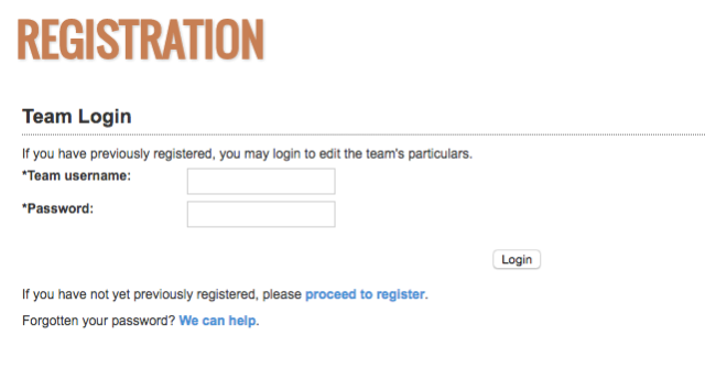 Registration Login